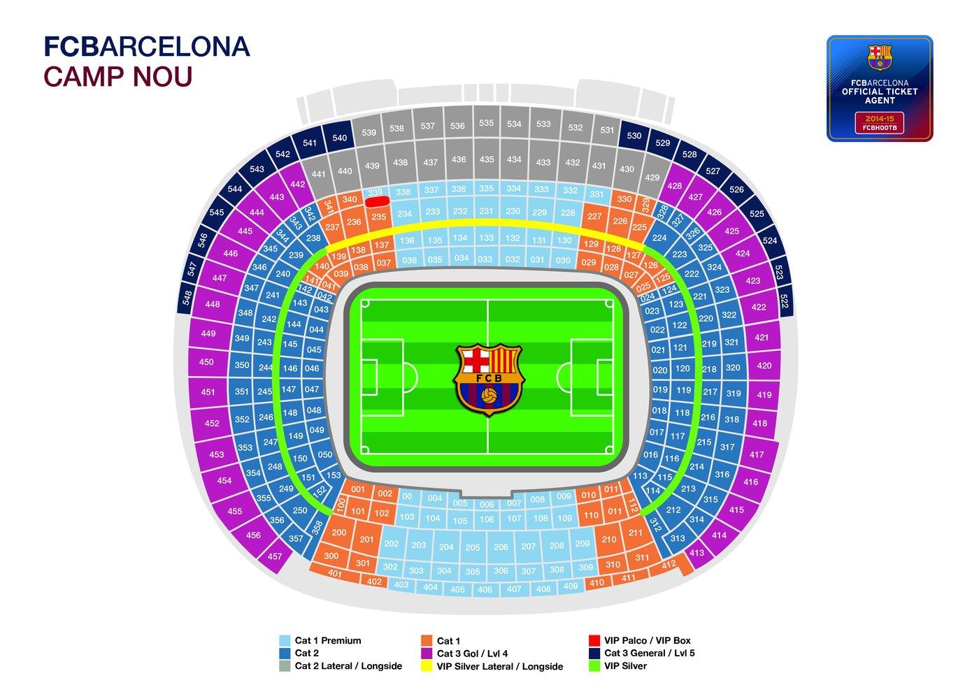 Стадион барселона схема